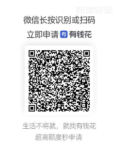 微信识别或扫描二维码开始申请有钱花